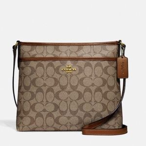 Coach Authentic Crossbody Purse, Brown NWT